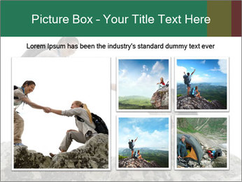 Hiker woman helps PowerPoint Templates - Slide 19