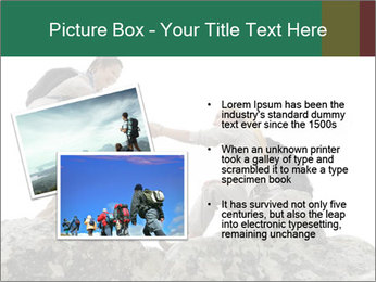 Hiker woman helps PowerPoint Templates - Slide 20