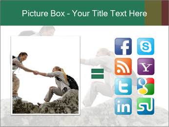 Hiker woman helps PowerPoint Templates - Slide 21