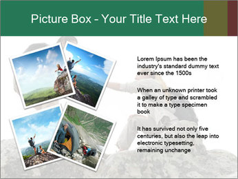 Hiker woman helps PowerPoint Templates - Slide 23