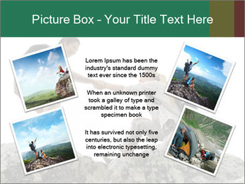 Hiker woman helps PowerPoint Templates - Slide 24