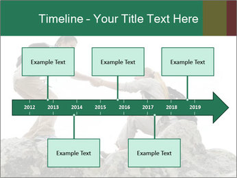 Hiker woman helps PowerPoint Templates - Slide 28