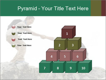 Hiker woman helps PowerPoint Templates - Slide 31