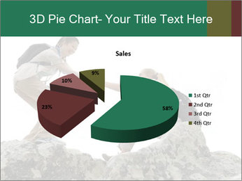 Hiker woman helps PowerPoint Templates - Slide 35