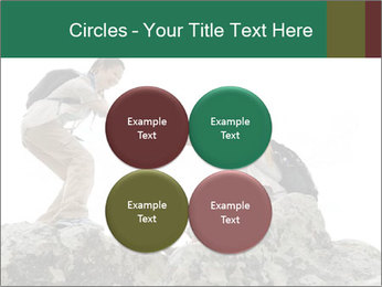 Hiker woman helps PowerPoint Templates - Slide 38