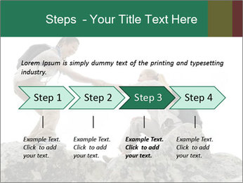 Hiker woman helps PowerPoint Templates - Slide 4
