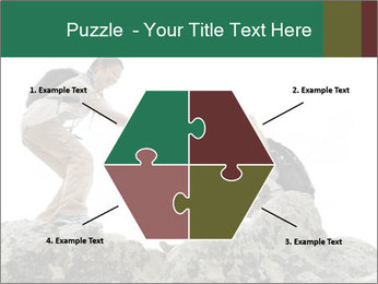 Hiker woman helps PowerPoint Templates - Slide 40