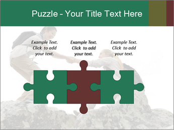 Hiker woman helps PowerPoint Templates - Slide 42