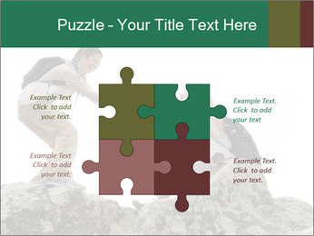 Hiker woman helps PowerPoint Templates - Slide 43