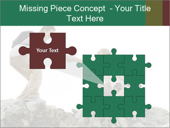 Hiker woman helps PowerPoint Templates - Slide 45