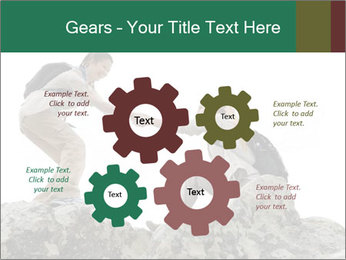 Hiker woman helps PowerPoint Templates - Slide 47