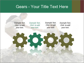 Hiker woman helps PowerPoint Templates - Slide 48
