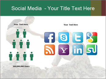 Hiker woman helps PowerPoint Templates - Slide 5