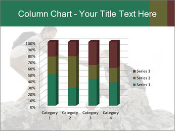 Hiker woman helps PowerPoint Templates - Slide 50
