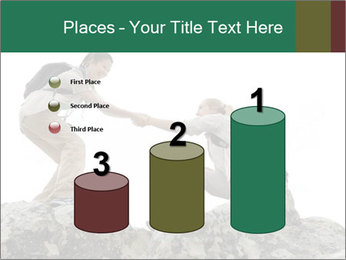 Hiker woman helps PowerPoint Templates - Slide 65