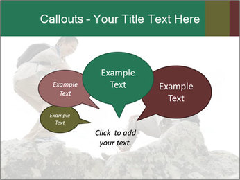 Hiker woman helps PowerPoint Templates - Slide 73