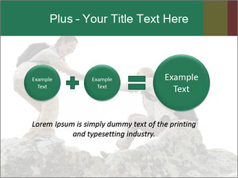 Hiker woman helps PowerPoint Templates - Slide 75