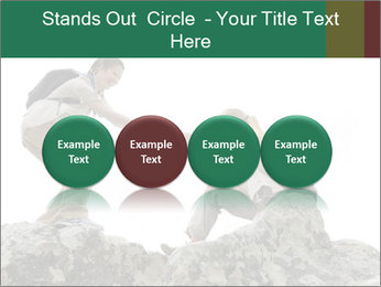 Hiker woman helps PowerPoint Templates - Slide 76