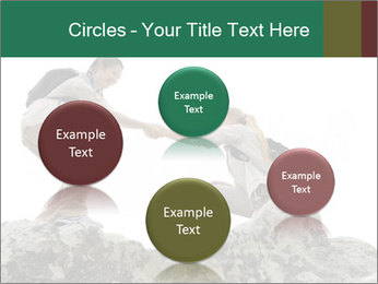 Hiker woman helps PowerPoint Templates - Slide 77