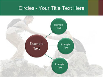 Hiker woman helps PowerPoint Templates - Slide 79