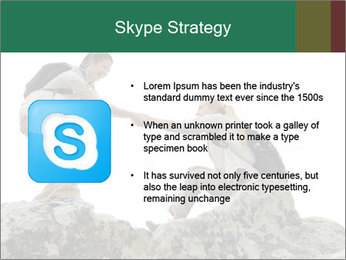 Hiker woman helps PowerPoint Templates - Slide 8