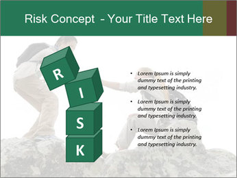 Hiker woman helps PowerPoint Templates - Slide 81