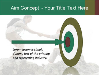 Hiker woman helps PowerPoint Templates - Slide 83