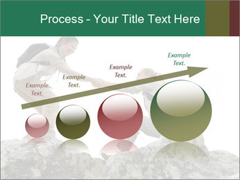 Hiker woman helps PowerPoint Templates - Slide 87