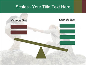 Hiker woman helps PowerPoint Templates - Slide 89