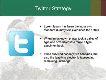 Hiker woman helps PowerPoint Templates - Slide 9