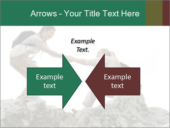Hiker woman helps PowerPoint Templates - Slide 90