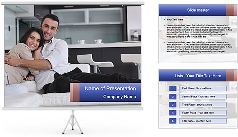 Couple relax PowerPoint Template