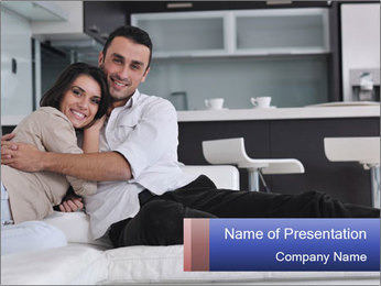 Couple relax PowerPoint Templates - Slide 1