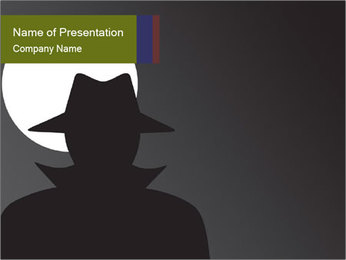 Spy PowerPoint Template - Slide 1