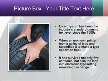 Mechanic changing a wheel PowerPoint Templates - Slide 13