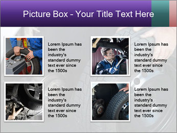 Mechanic changing a wheel PowerPoint Templates - Slide 14