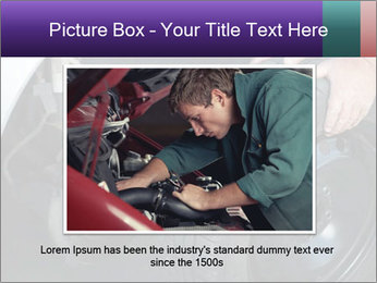 Mechanic changing a wheel PowerPoint Templates - Slide 16