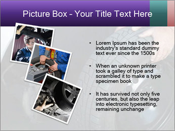 Mechanic changing a wheel PowerPoint Templates - Slide 17