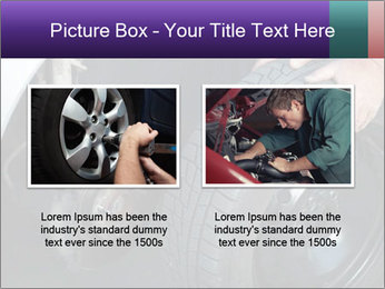 Mechanic changing a wheel PowerPoint Templates - Slide 18
