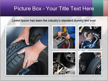 Mechanic changing a wheel PowerPoint Templates - Slide 19