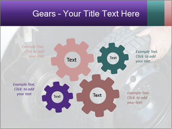 Mechanic changing a wheel PowerPoint Templates - Slide 47