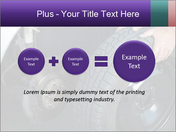 Mechanic changing a wheel PowerPoint Templates - Slide 75