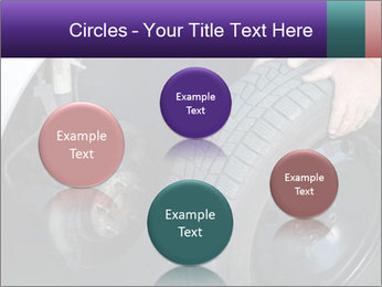 Mechanic changing a wheel PowerPoint Templates - Slide 77