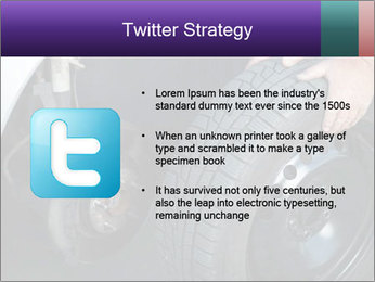 Mechanic changing a wheel PowerPoint Templates - Slide 9