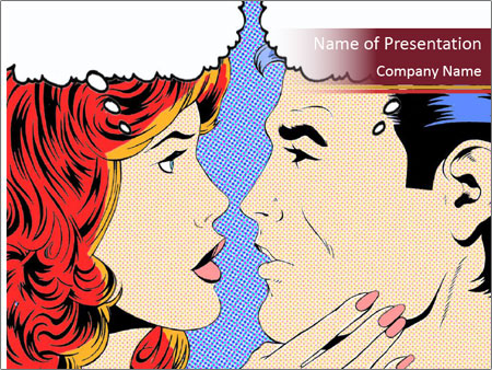 comic pop art powerpoint template & backgrounds id 0000092899, Modern powerpoint