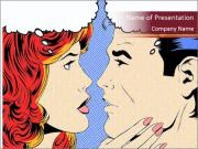 Comic pop art PowerPoint Templates