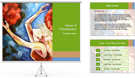 Blonde the girl plays PowerPoint Template