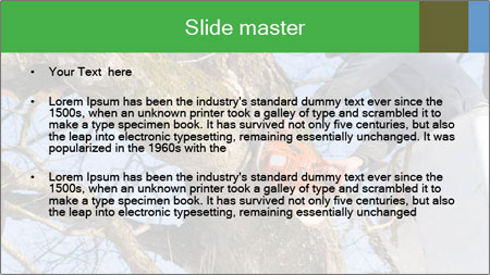 A tree surgeon cuts PowerPoint Template - Slide 2