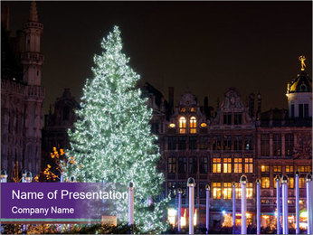 Christmas tree PowerPoint Template - Slide 1