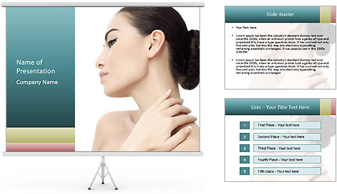 Attractive asian woman PowerPoint Template